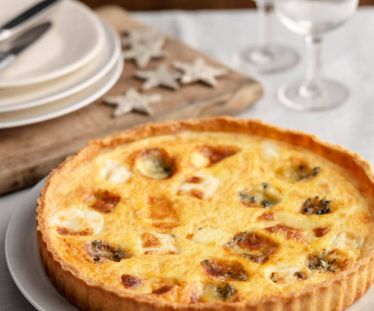 Quiche de Noël au fromage et à l'oignon (Royaume-Uni)
