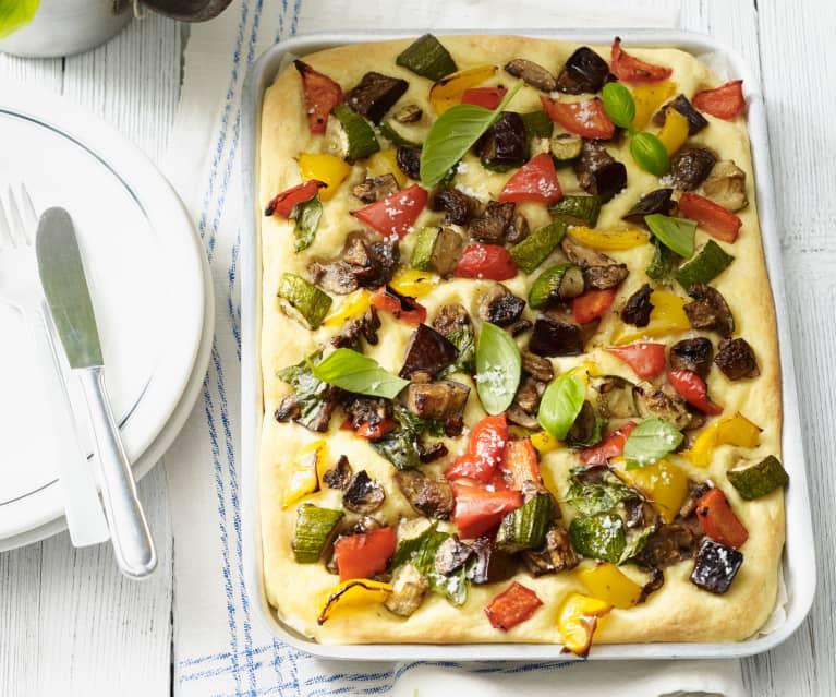 Kartoffelpizza mit Gemüse