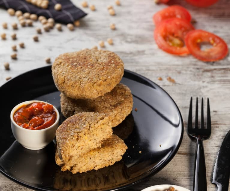 Burger di soia e lenticchie