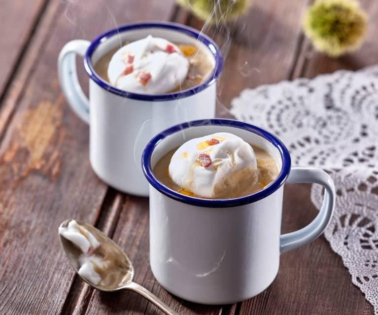 Velouté de châtaigne en cappuccino