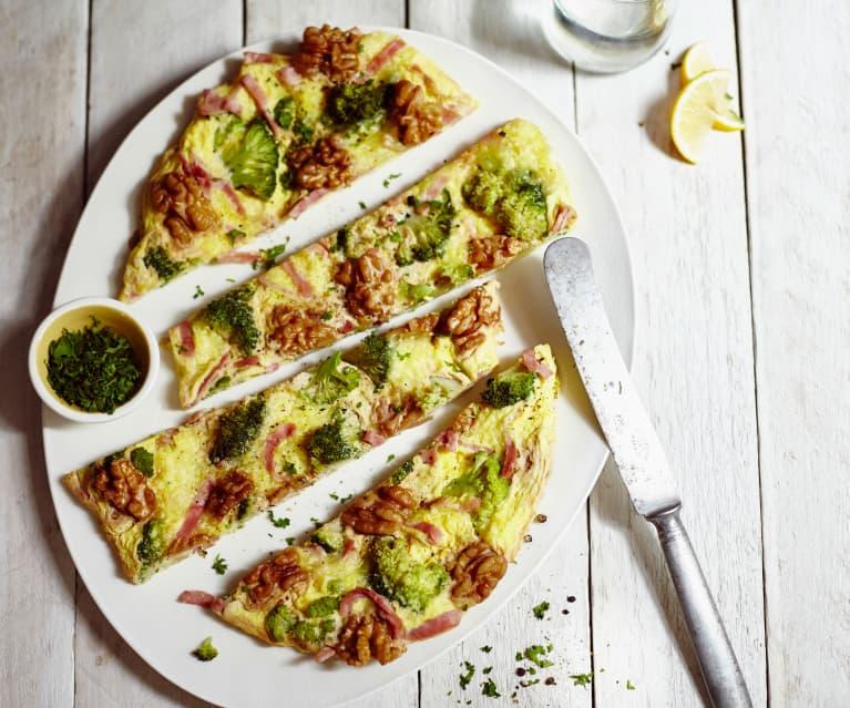 Omelette brocoli-jambon