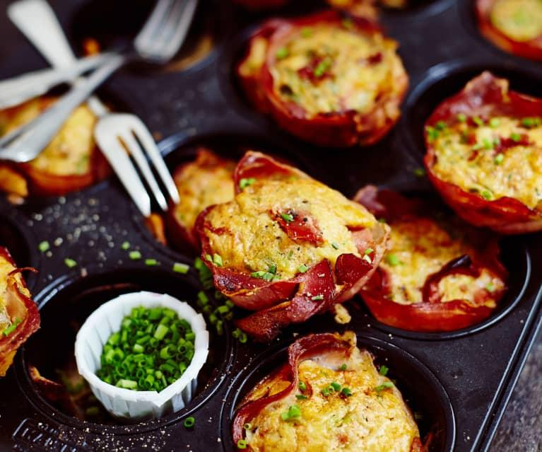 Muffins ciboulette-jambon fumé