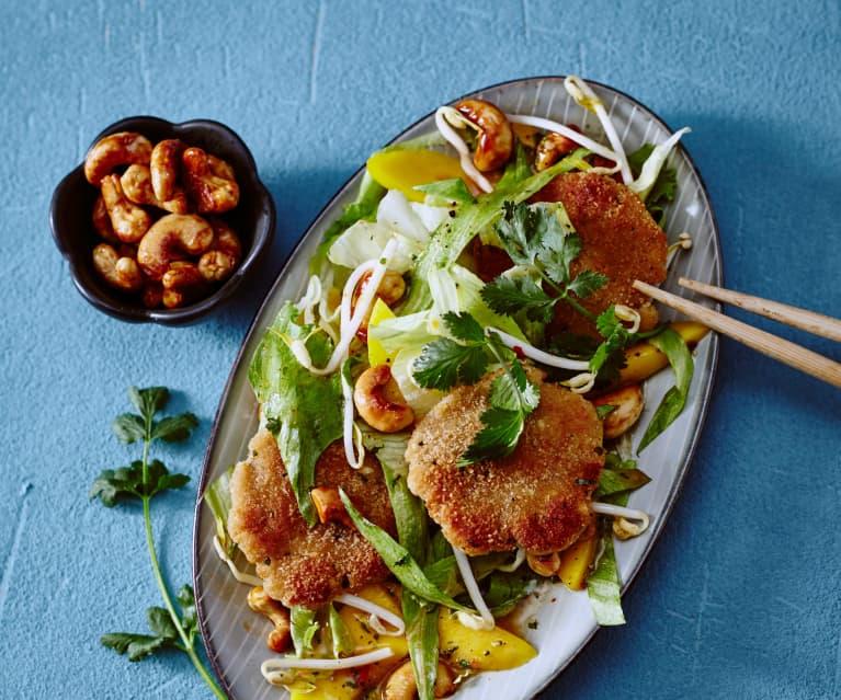 Asia-Salat mit Mini-Puten-Frikadellen