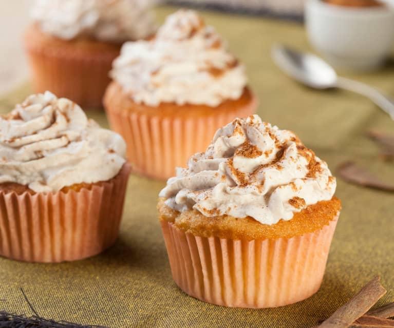 Ricetta Muffin Di Mele.Cupcake Alle Mele Con Frosting Alla Ricotta E Cannella Cookidoo The Official Thermomix Recipe Platform