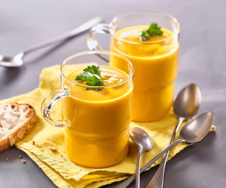 Velouté de potiron au fromage ail et fines herbes