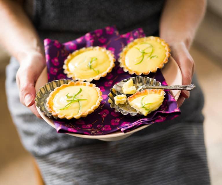 Tartelette citron vert-gingembre