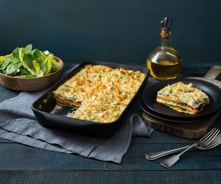 Cauliflower and sweet potato lasagne
