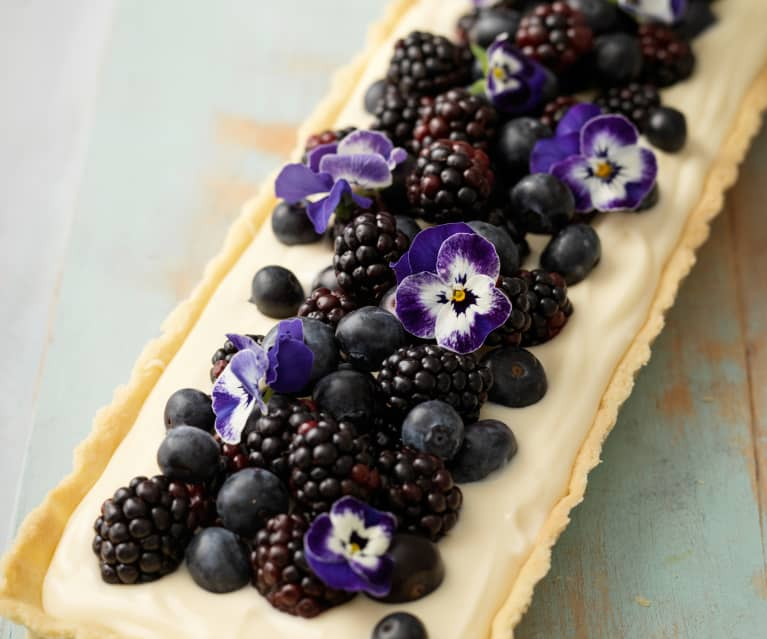 Fruit Tart with Camomile Custard