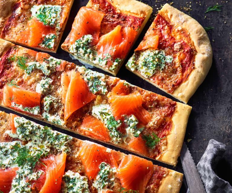 Räucherlachs-Pizza