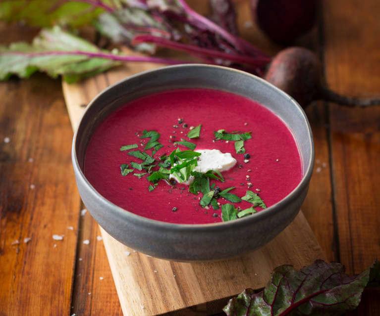 Rote-Rüben-Suppe (vegan)