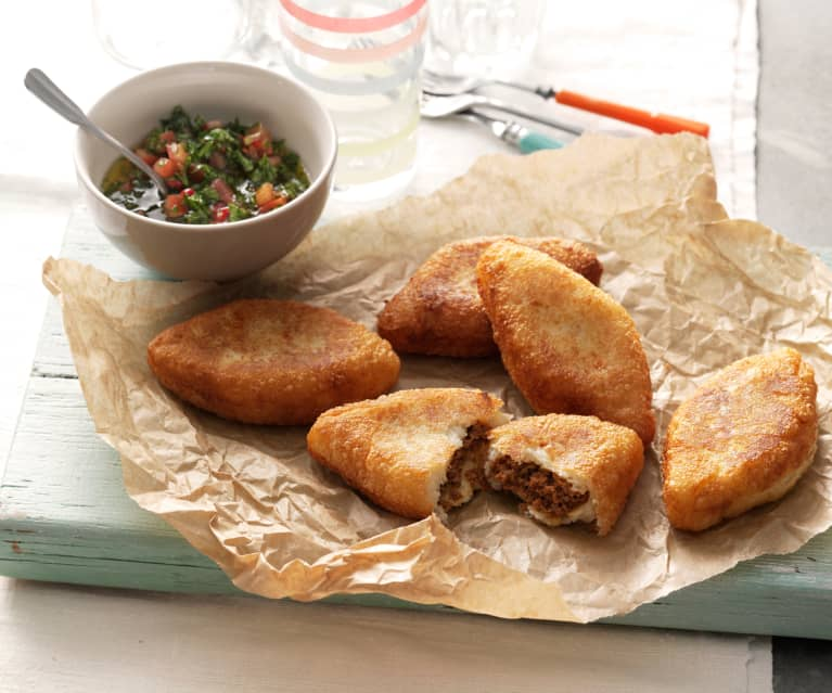 Meat And Cheese Stuffed Cassava Carimanolas De Carne Y De Queso Cookidoo The Official Thermomix Recipe Platform