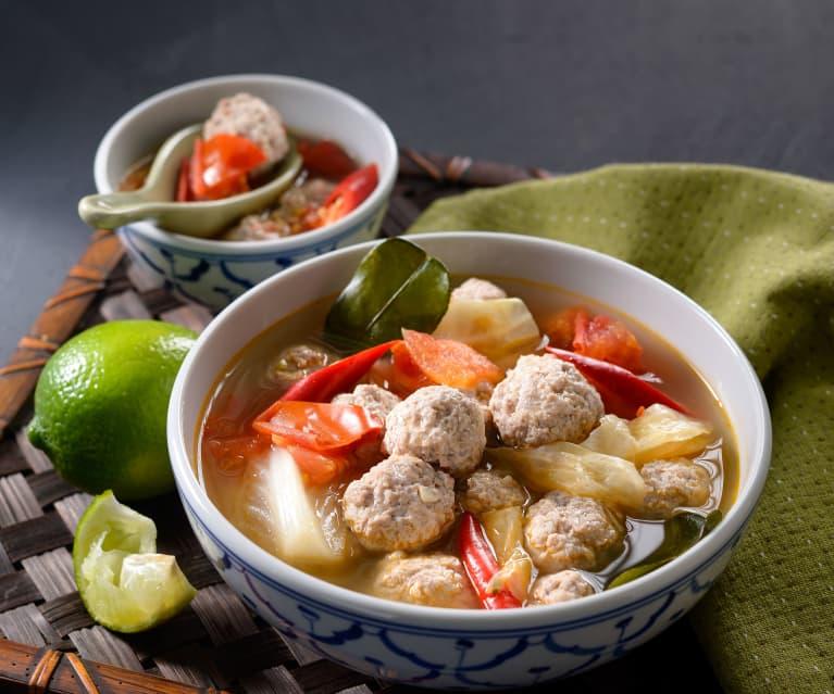 泰式肉丸菜湯