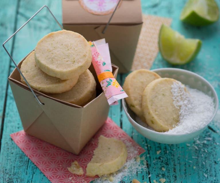 Limetten-Kokos-Kekse