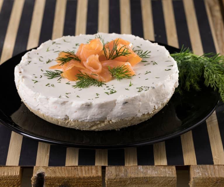Cheesecake integrale alla robiola e salmone
