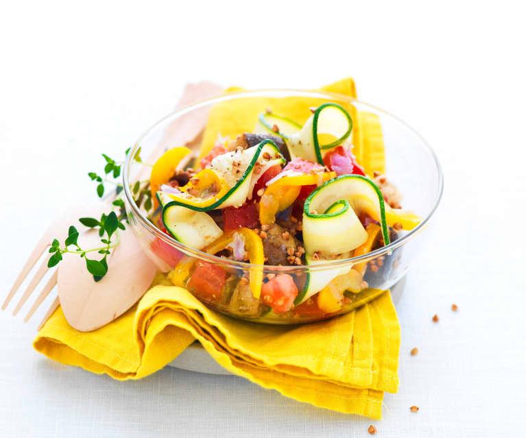 Salade de légumes du soleil au kasha