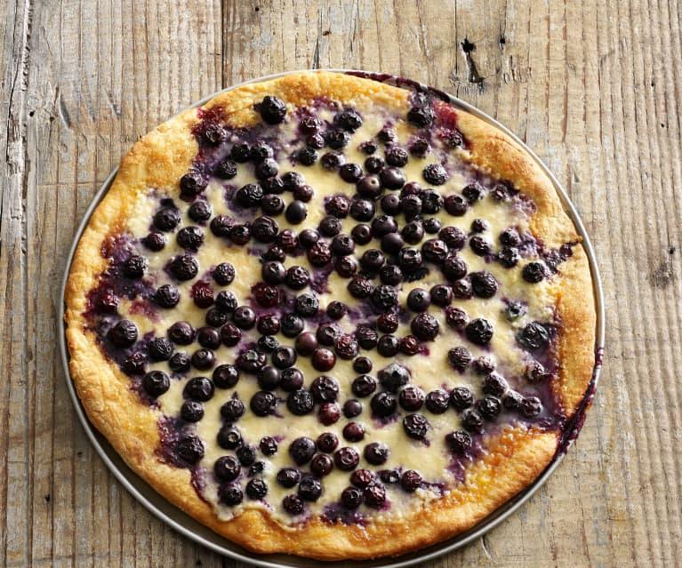 Blueberry and Lemon Mascarpone Dessert Pizza