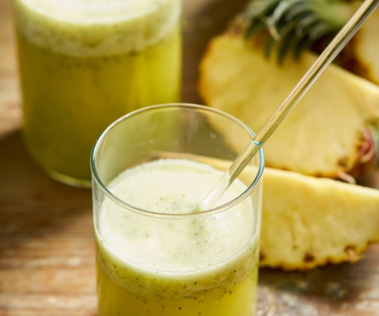 Sumo de ananás e hortelã (fresco)