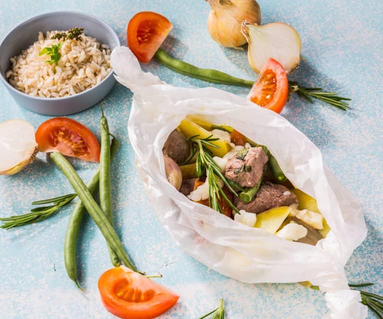 Lamm-Gemüse- Päckchen