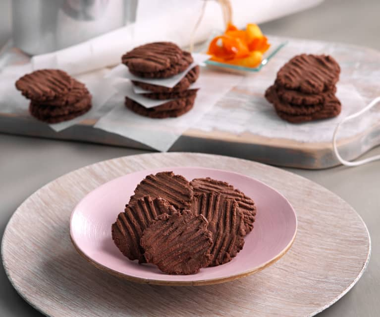 Galletas de chocolate con azúcar de coco