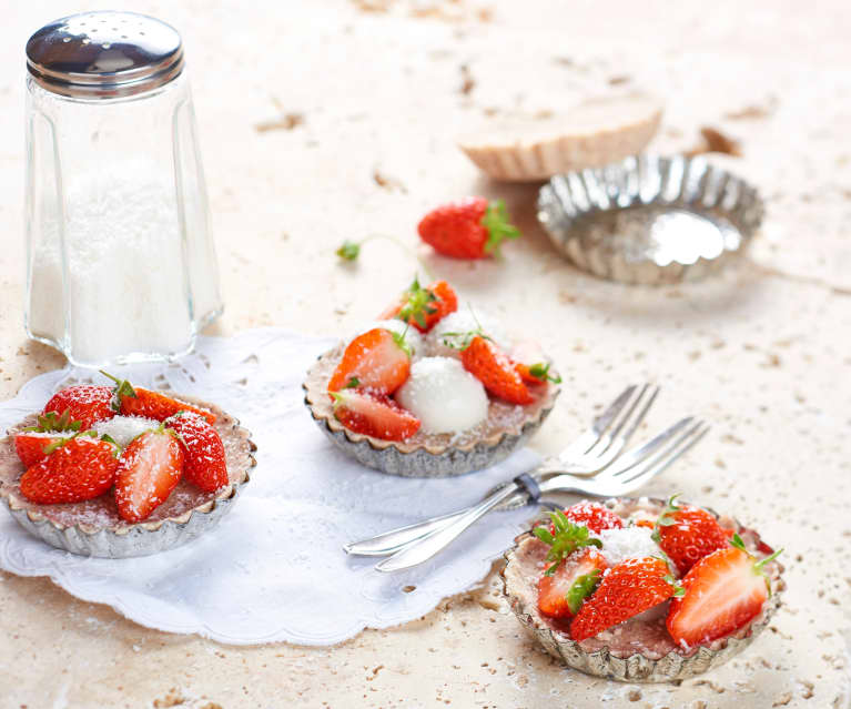 Tartelette fraise coco (vegan)