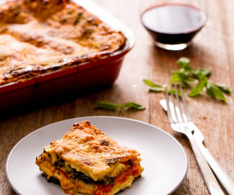 Spinach, Tomato And Cheese Lasagne
