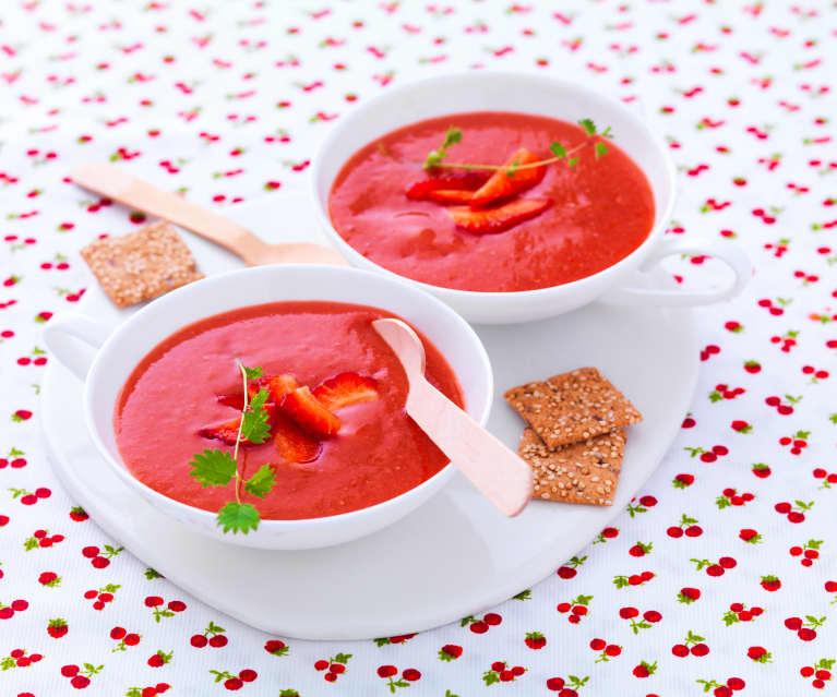 Gazpacho fragole e pomodoro