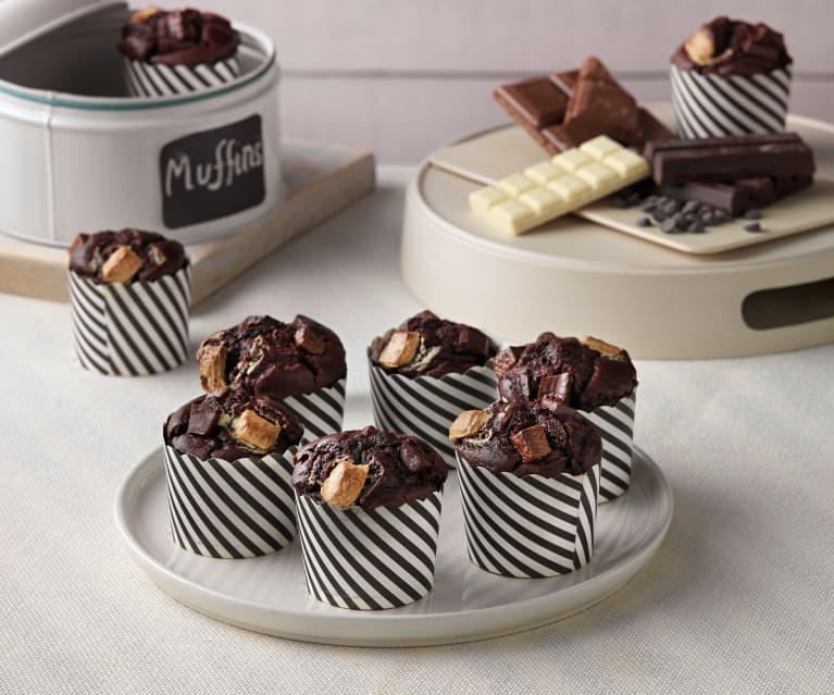 Muffins tres chocolates