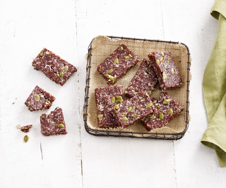 No Bake Coconut, Pecan, Date and Cranberry Bars