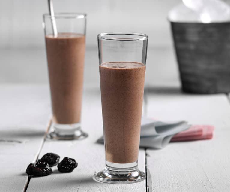 Smoothie de chocolate y ciruelas pasas