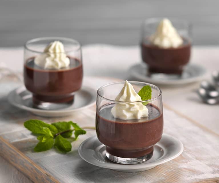 Bavaroises de chocolate con menta