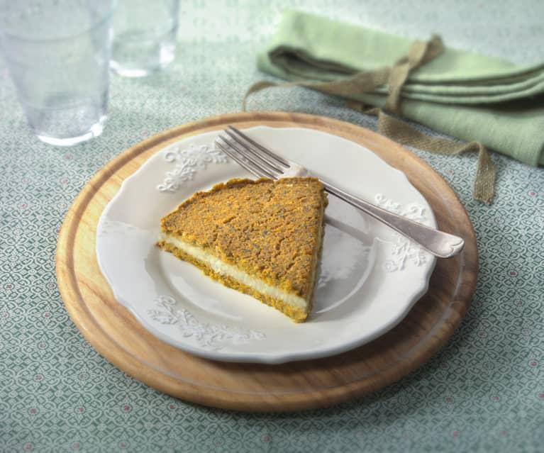 Torta di lenticchie farcita (vegan)