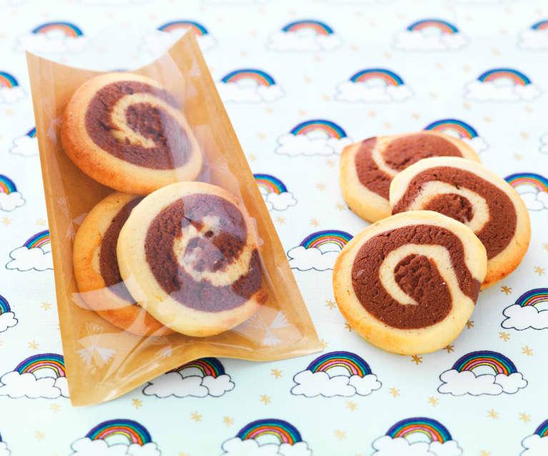 Biscuits spirales chocolat-vanille