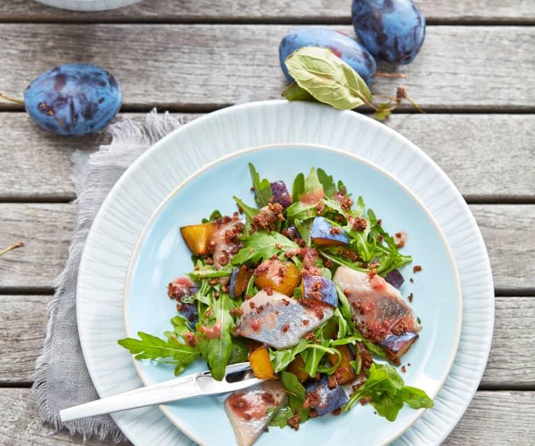 Matjes-Salat mit Pflaumendressing
