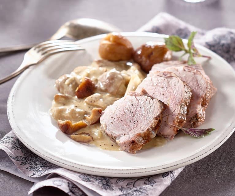 Filet mignon con porcini e castagne