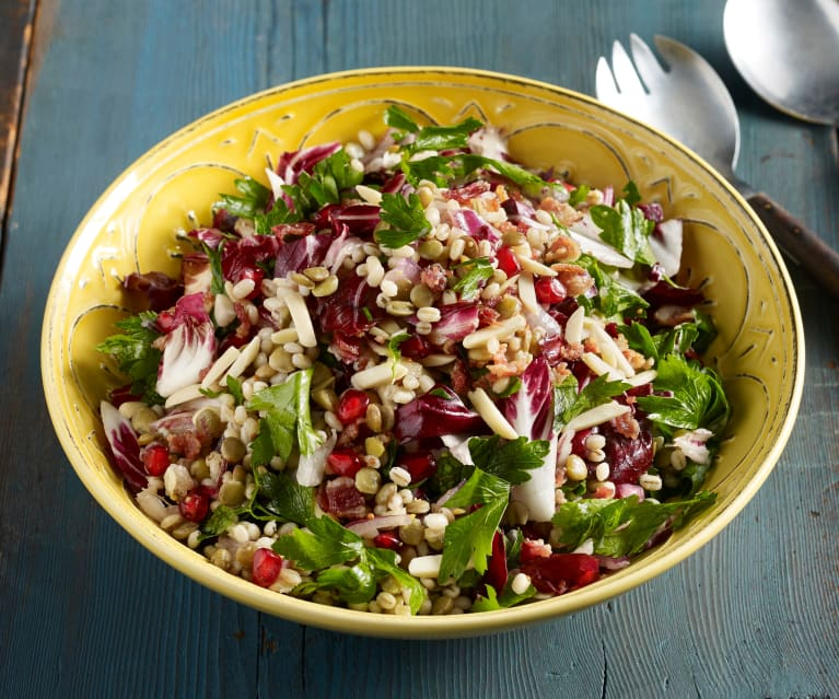 Barley and Lentil Radicchio Salad