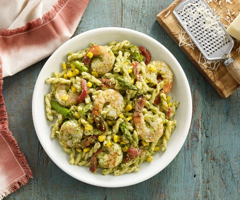 Shrimp Pasta Salad with Cilantro Pesto