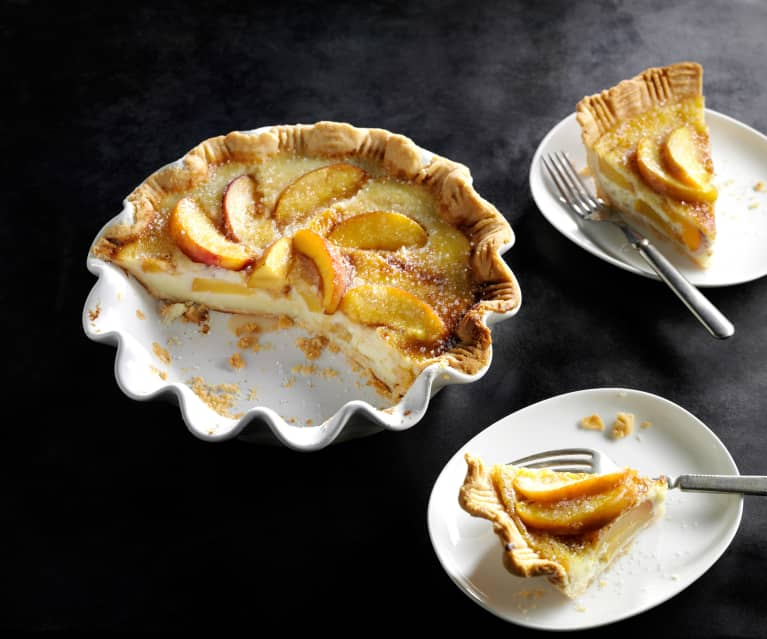 Country Peach and Custard Pie