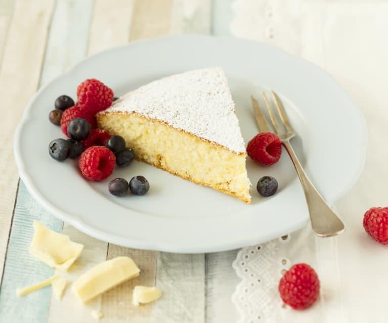 Weißer Schoko-Kuchen (Resteverwertung von Eiklar)