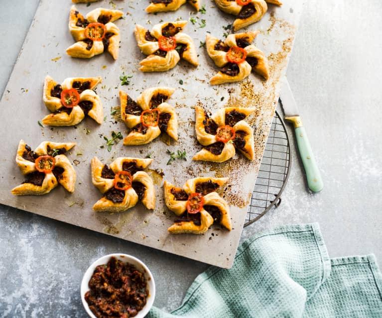 Feuilletés moulin olive-parmesan