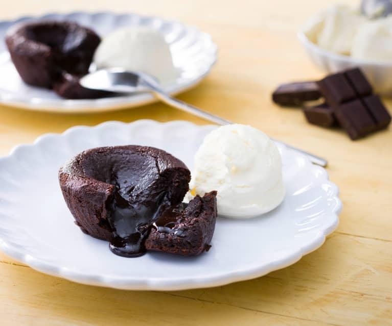 Volcán de chocolate (para dos)