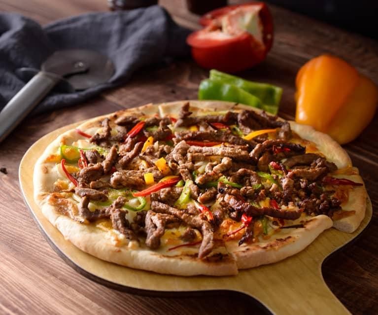 彩椒沙茶牛肉披薩
