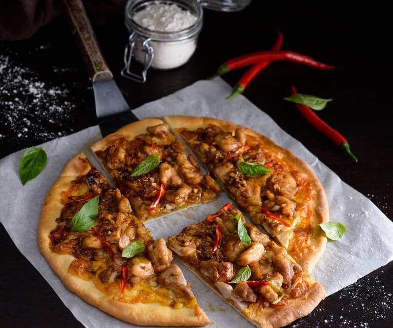 三杯雞披薩