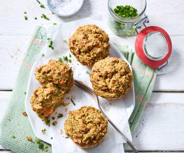 Muffinki brokułowe z szynką