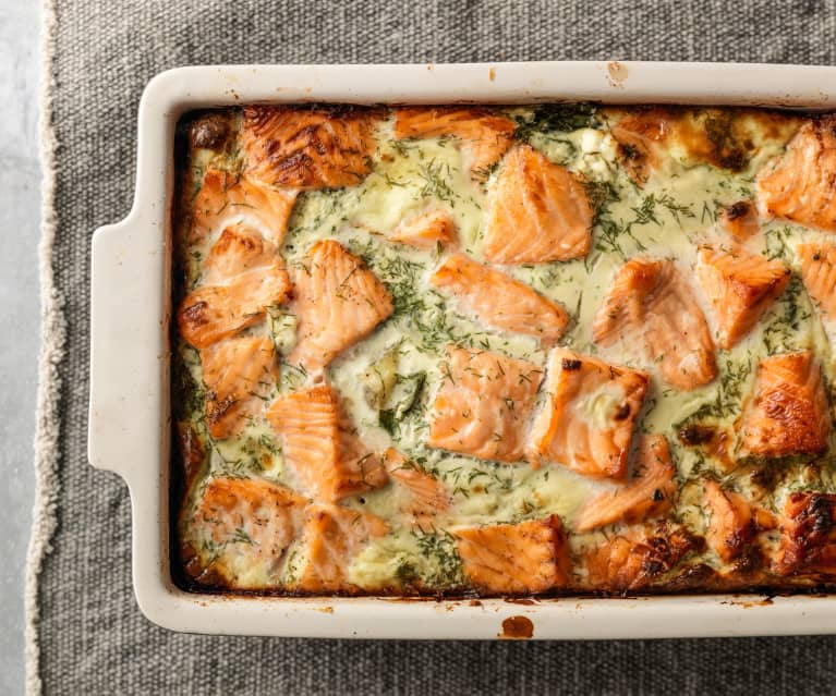 Salmon and Potato Bake with Dill