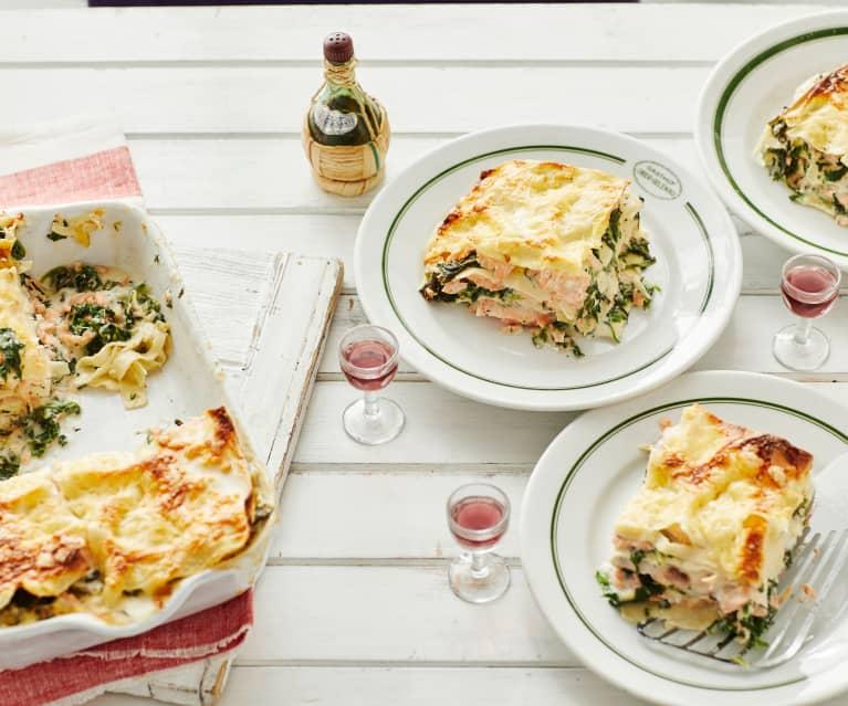 Lachs Spinat Lasagne Cookidoo Das Offizielle Thermomix Rezept