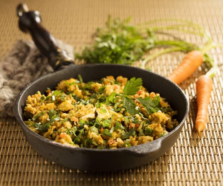 Gemüsereis mit Ei