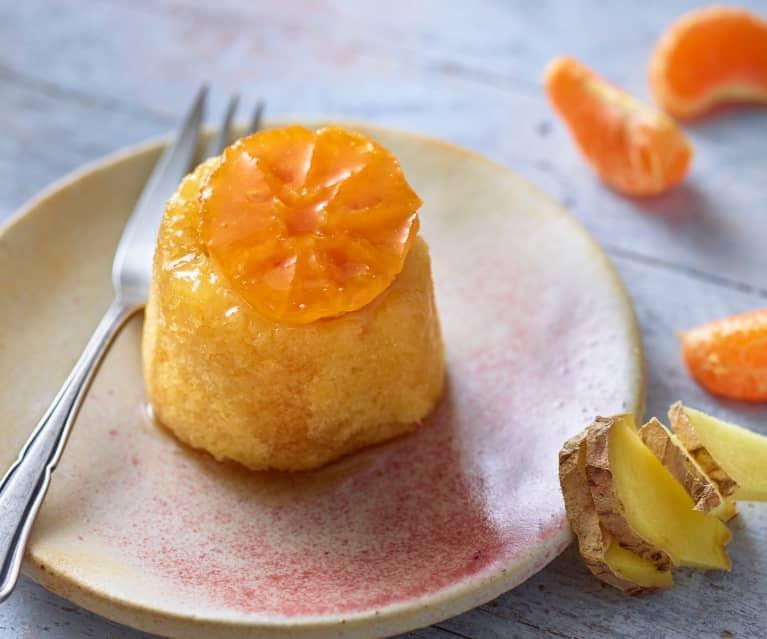 Zázvorovo-medové dortíky s plátkem mandarinky