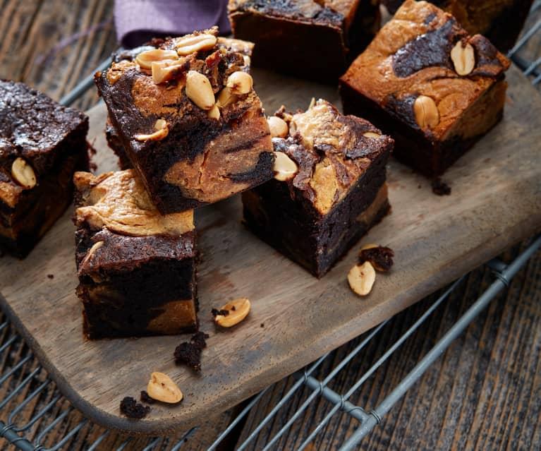 Erdnusscreme-Brownies