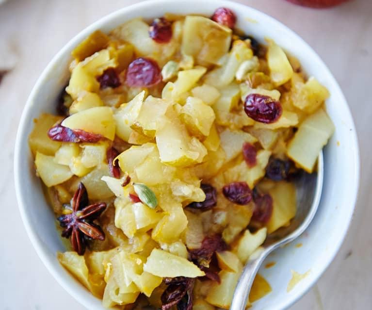 Compote pomme-poire aux épices