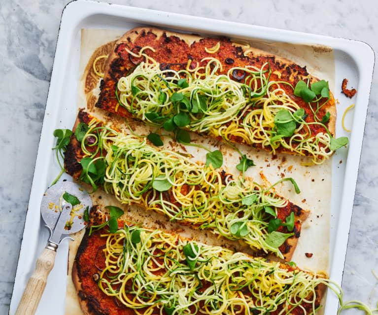Pizza végane aux légumes